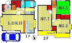 [一戸建] 千葉県松戸市新松戸南 の賃貸【千葉県 / 松戸市】の間取り