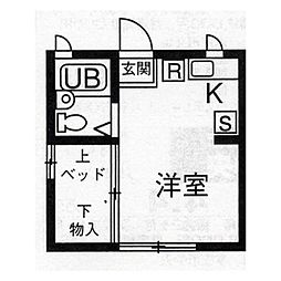 上里リバーサイドヴィラIX(9)[102号室]の間取り