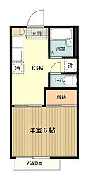 東京都八王子市台町3丁目の賃貸アパートの間取り