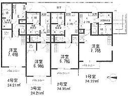 神奈川県横須賀市三春町6丁目の賃貸アパートの間取り