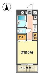 愛知県日進市折戸町中屋敷の賃貸マンションの間取り