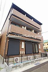 神奈川県平塚市夕陽ケ丘の賃貸アパートの外観