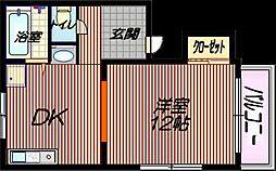 桜マンション 仲介手数料10800円 専用消毒も不要[40A号室]の間取り