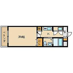 インパレス小阪[505号室]の間取り