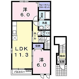 インプレス B[2階]の間取り