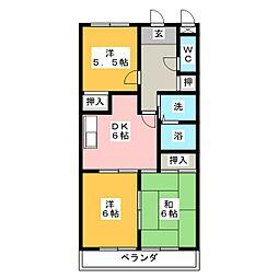 DOMUS SHIMA[4階]の間取り