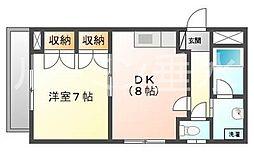 歌敷山ハイツ[1階]の間取り