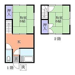 [テラスハウス] 千葉県習志野市実籾3丁目 の賃貸【/】の間取り