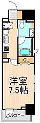 ライオンズクオーレ東京三ノ輪シティゲート[8階]の間取り