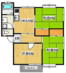 クエスト遠藤B[2階]の間取り