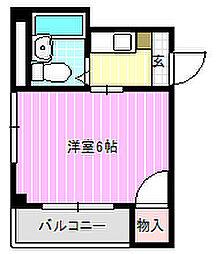 シャルル桜木[1階]の間取り