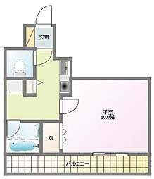 コーラルウェイII[5階]の間取り