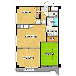 Ville Maison Kasai[5階]の間取り