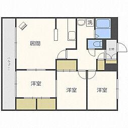 北海道札幌市中央区南十一条西21丁目の賃貸マンションの間取り