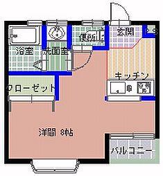 フロンティアK2 B棟[202号室]の間取り