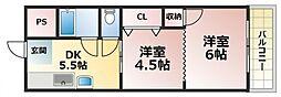 大同マンション[2階]の間取り