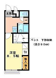 兵庫県加古川市加古川町南備後の賃貸アパートの間取り