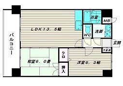 コージーコートHAKATA[502号室]の間取り
