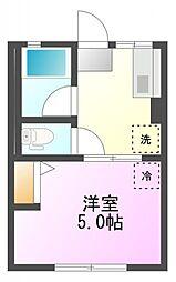 シティハイムホシノ[1階]の間取り