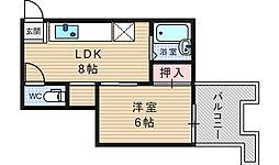 エスポワール参番館[2階]の間取り