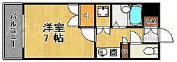 ディアマンテ薬院[6階]の間取り