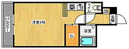 京都府京都市北区鷹峯上ノ町の賃貸マンションの間取り