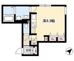 WELLCOURT NAKAMURA-KOUEN 3階ワンルームの間取り