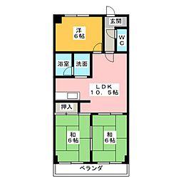 クリスタルシャトーSUZUKI[2階]の間取り