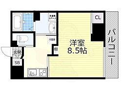 名鉄名古屋本線 山王駅 徒歩7分の賃貸マンション 2階1Kの間取り