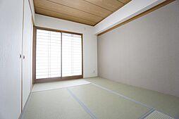 南面リビング続きの和室です。畳張替、襖障子張替。