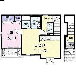 ロジーD[2階]の間取り