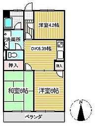 ラ・フォーレ小見野1[3階]の間取り