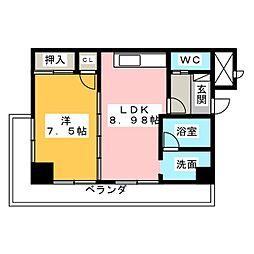 ゴールドハイツワタナベ[2階]の間取り