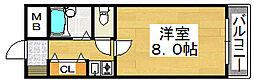 フォンテーヌ堺[6階]の間取り