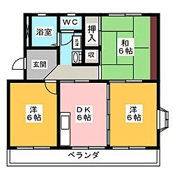 サテンコート[2階]の間取り