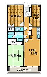 小田急相模原パークホームズ[5階]の間取り
