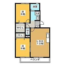 サンハイツ青雲[2階]の間取り