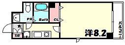 カリエンテ三宮[2階]の間取り
