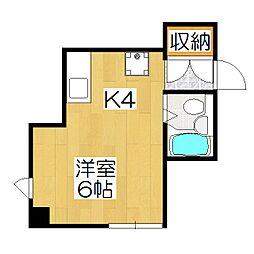 ハウス50[2-B号室]の間取り