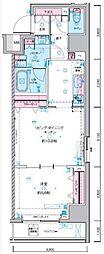 JR総武線 浅草橋駅 徒歩5分の賃貸マンション 5階1LDKの間取り