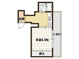 第二西政マンション[7階]の間取り