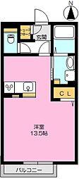佐賀県佐賀市巨勢町大字牛島の賃貸アパートの間取り