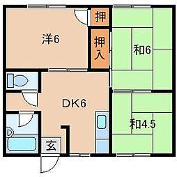 フォルクK[1階]の間取り