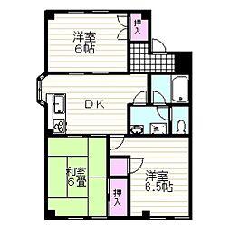 静岡県伊豆の国市四日町の賃貸アパートの間取り
