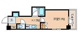 東京都文京区湯島3丁目の賃貸マンションの間取り