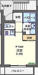 シャンノール[2階]の間取り