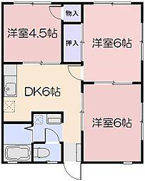 岡山県岡山市南区芳泉4の賃貸アパートの間取り