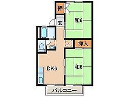 セジュールKOYA[2階]の間取り