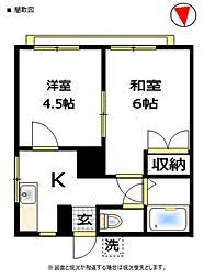 CASA-K[2階]の間取り