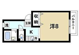 シティロイヤル富雄北[2階]の間取り